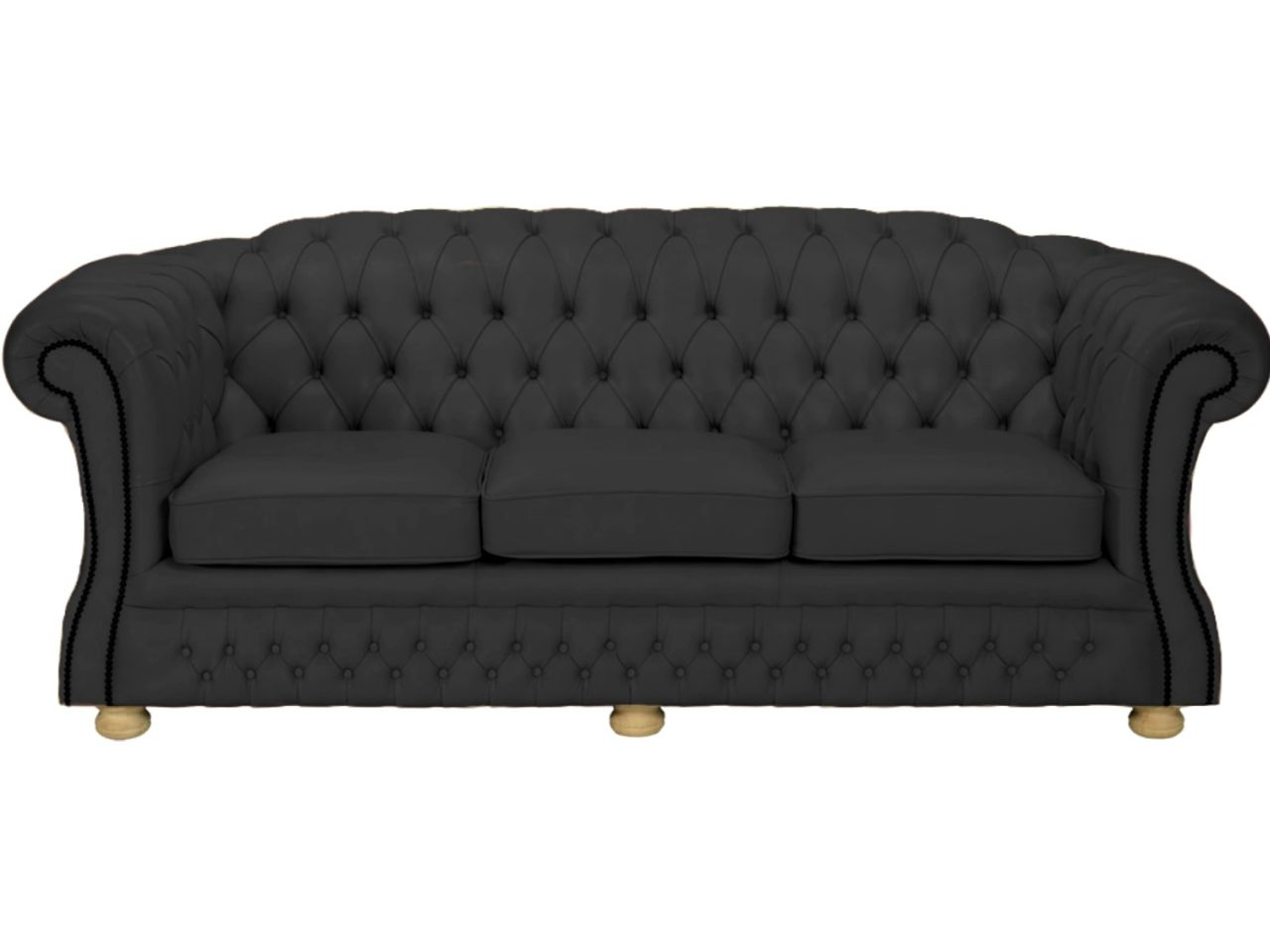 Blenheim 3 Seater - Black